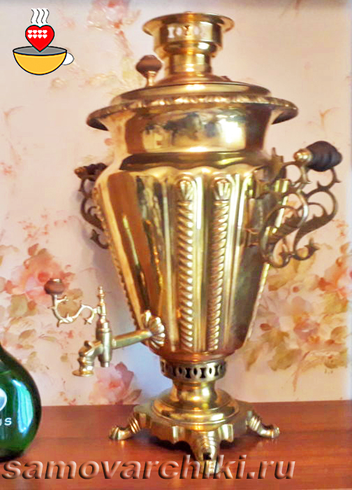 Антикварный самовар рюмка Капырзина фото