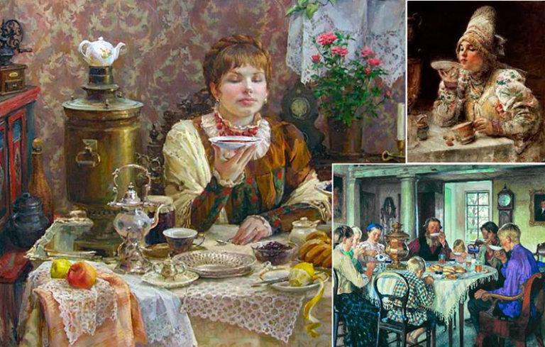 пить чай из блюдца откуда традиция