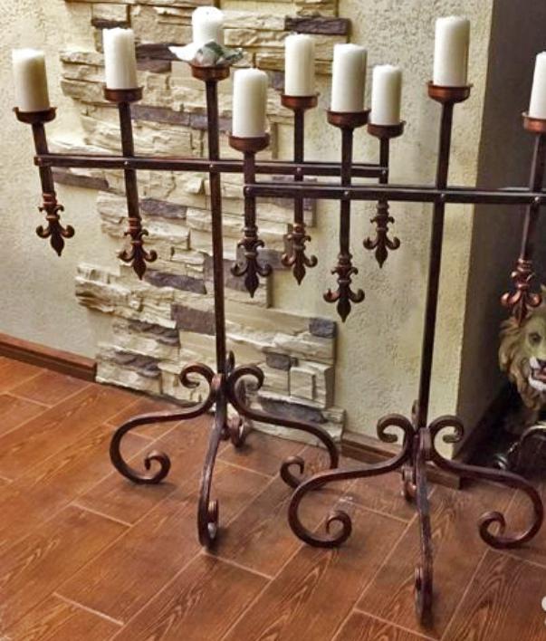 Современные напольные канделябры (торшеры) на 5 свечей