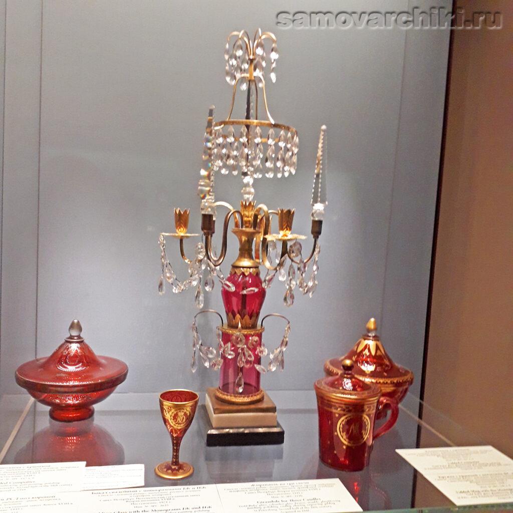 Старинная жирандоль на 3 свечи, Эрмитаж
